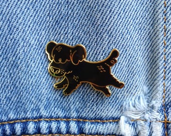 Lil' Mutt - Black Dog Enamel Pin