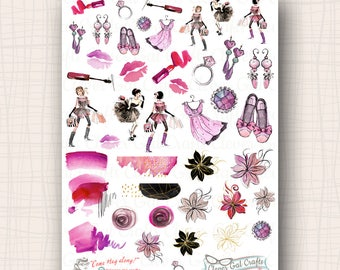 Decorative Planner Stickers | Haute to Trot Deco | 42 Stickers Total | SD43