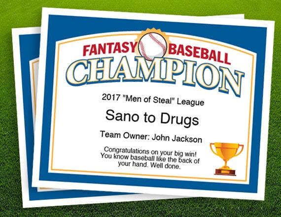 Fantasy baseball champion certificate 1 fantasy baseball fantasy baseball champion certificate 1 fantasy baseball trophy championship award template yadclub Choice Image