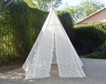 8' Pentagon Iovry All Lace Adult Teepee