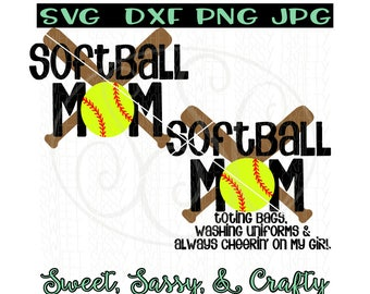 Softball mom svg, softball svg, mom svg, softball svg file, sports mom svg, SVG, DXF, PNG, JpG, cut files for silhouette and cricut machines