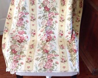 Vintage Cotton Chintz Fabric