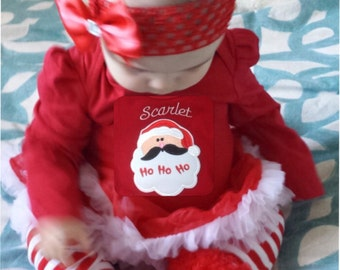 Santa Baby Christmas Outfit Red Baby Christmas Dress, Babys First Christmas Outfit Girl, Baby Christmas Tutu Outfit Baby Girl, 3m to 24m