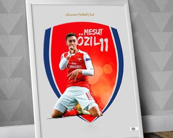 Mesut Özil / Arsenal FC / Illustration Poster Print / Gunners / Özil print / Özil Poster / Football / UCL / Germany / Premier League