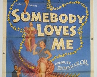 Somebody Loves Me - 1952 - Betty Hutton - US one sheet movie poster