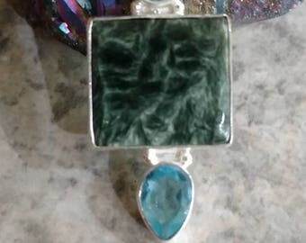 Seraphinite Pendant Necklace
