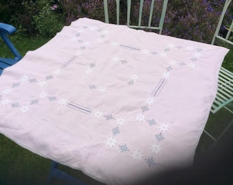 Pretty Pink Vintage Tablecloth