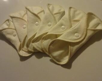 6 Or 12 Pack ORGANIC CLOTH PADS -Cloth Liners-Feminine Care HuggableEarth