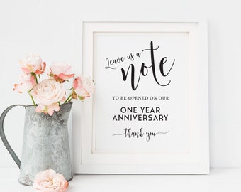 Printable Leave a Note Wedding Sign, DIY Wedding Printables, best wishes sign, guestbook, visitor book, Please leave us a note, Guestbook