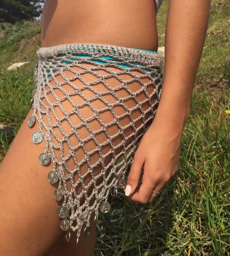 Gypsy crochet coin hip scarf sarong or tube top triangle description gypsy coin crochet hip scarf bankloansurffo Gallery