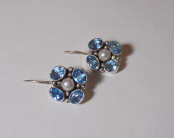 Sterling Silver and Topaz earrings