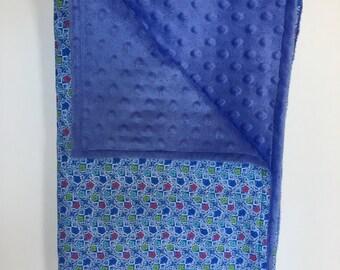 Minky Floral Blanket