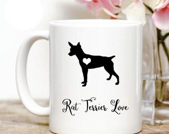 rat terrier love Coffee Mug