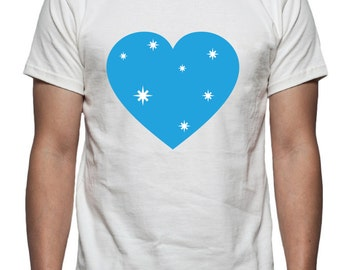 Winter Heart Tee Shirt Design, SVG, DXF, EPS Vector files for use with Cricut or Silhouette Vinyl Cutting Machines