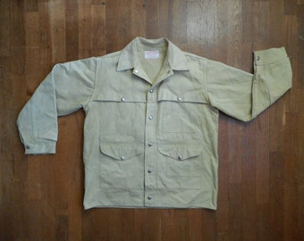 vintage genuine cc filson co tan canvas hunting jacket tin cruiser outdoor wear