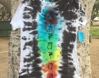 T-Shirt Women's Chakra Rainbow Yoga Top