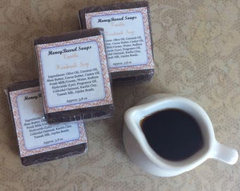 Vanilla Handmade Soap, Exfoliating Soap, Artisan Soap, Cocoa Butter, Shea Butter, HoneyBarrel Soaps.