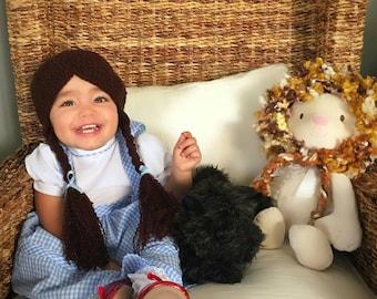 Dorothy, dorothy wig hat, disney dorothy costume hat, baby disney dorothy, dorothy hat, dorothy crochet hat, wizard of oz dorothy costume