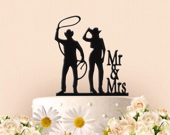 Cowboy Cowgirl Roping Cake Topper