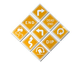 Reflective Traffic Warning Sign Decals