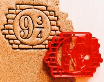 Platform 9 3/4 Cookie Cutter Harry Potter Hogwarts express cookiecutter cookies any shape any size