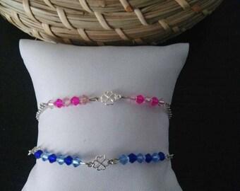 """Lucky"" pink or blue bracelet"