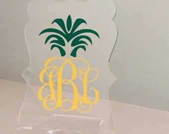 Personalized Monogram Cell Phone Stand