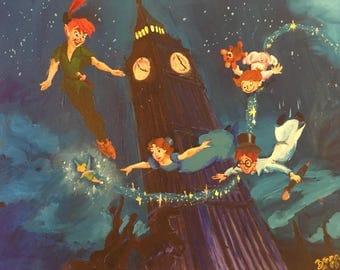 Peter Pan Clock Etsy