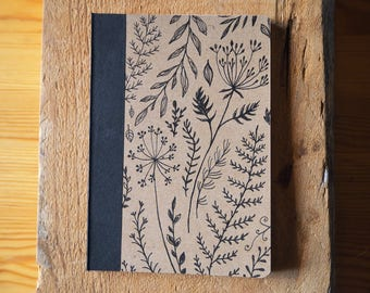 Pocket sized hand drawn notebook