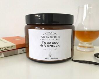 Tobacco & Vanilla Scented Soy Candle - 15 oz