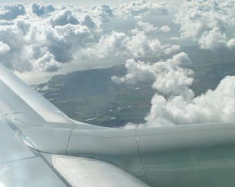 Window View Airplane, Nature Photography