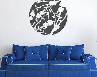 Floral Sphere Vinyl Wall Decal