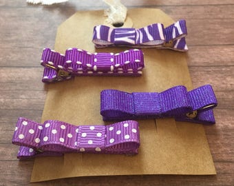 Purple Infant Toddler Alligator Hair Clips