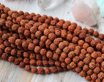8mm Rudraksha Beads, Rudraksha Seed Beads, Mala Beads, Seed Beads, Natural Brown, Brown Beads, Brown Seed, Seed Jewelry, Rudraksha Bead,