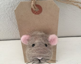 Mouse Brooch, Handmade cute mice animal, Unique Pin Accessory, animal lover gift