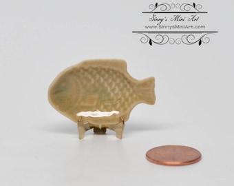 1:12 Dollhouse Miniature Fish Serving Platter/ Miniature Plates BD B079