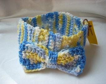 Toddler Headband, Spring Crochet Headband, Big Bow Crochet Headband, Girl Bow Headband, Girl Spring Headband, Multi Colored headband