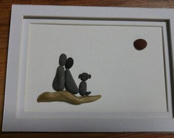 Together; pebble art