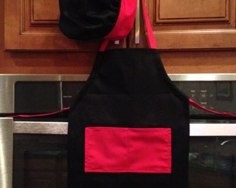 Toddler apron and chef's hat for the budding chef in your life, Valentine apron for boys, toddler boys apron for Valentines Day!