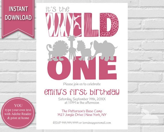 Wild one first birthday wild one birthday invitation 1st il570xn stopboris Image collections