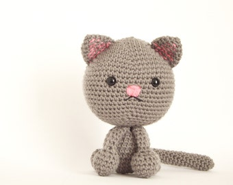 Kitty, amigurumi kitty, crochet kitty, kitty gift, Easter kitty, ready to ship