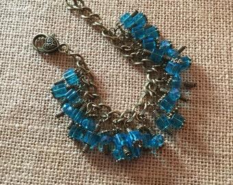 Steampunk beaded bracelet