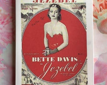 Classic Movie Poster Card - Bette Davis 'Jezebel' Handmade Card / Greeting Card