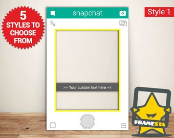 Snapchat Frame Custom Designed Photo Booth Prop (Digital File Only) Photo Booth Template