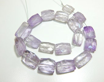Pink Amethyst Rectangle Faceted Beads 100% Natural Gemstone Size 14x8 To 16x10.mm Approx