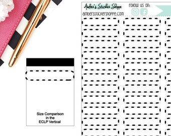 Neutral Skinny Dashed Memo Boxes Stickers Planner