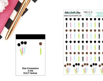 Makeup Brushes Planner Stickers