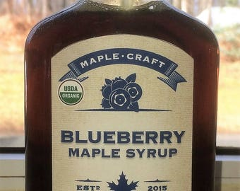 Organic Blueberry Maple Syrup, 200mL
