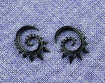 """Ear Weights, Earrings For Stretched Lobes,""""Predator"""" 4 Gauge (5mm) Gauges,Horn, Naturally Organic, Hand Carved, Tribal"""