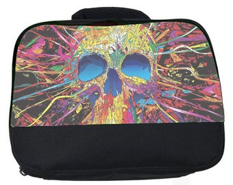 Crazy Skull canvas lunch bag (perfect for school or nursery)